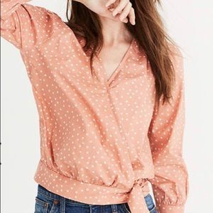 Madewell S star scatter wrap top shirt blouse
